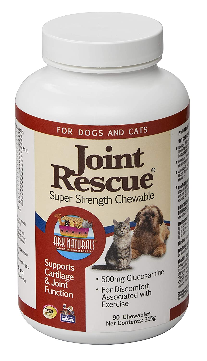 Ark Naturals Joint Rescue Super Strength (500 mg) for Dogs & Cats 90-Chewable Tablets