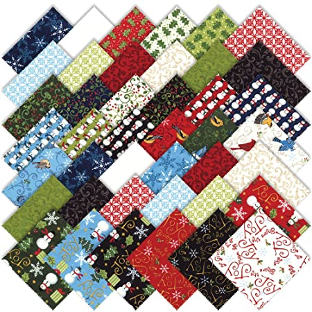 Moda Share The Joy Christmas Charm Pack 5 Quilt Squares 19570pp