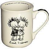 Enesco Children of the Inner Light Best Friends Stoneware Gift Mug, 16 oz.