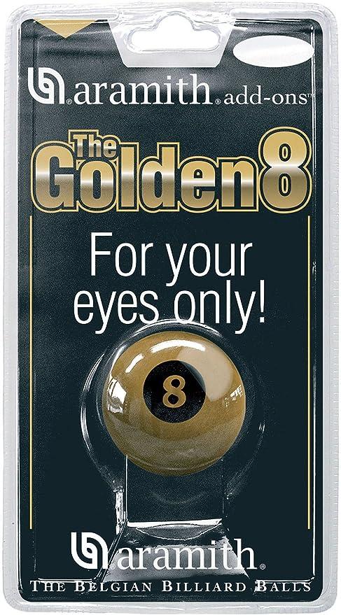 Aramith Premier - Bola de billar número 8, 5,08 cm, color dorado ...