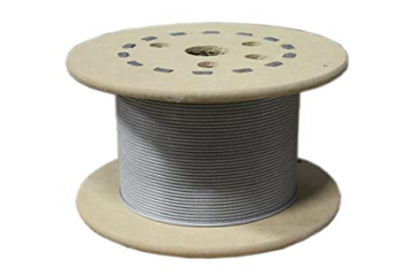 loos stainless steel 302 304 wire rope vinyl coated 7x7 strand