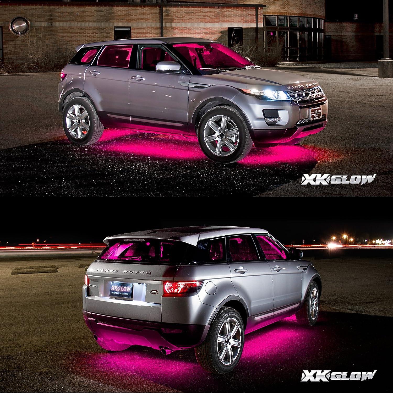 Pink Premium 18pcs Underglow Car Interior Three Mode
