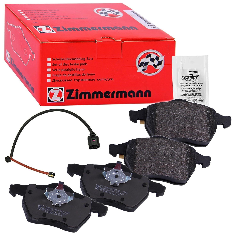 ZIMMERMANN 23131.195.1/Serie Bremsbelagsatz Hinten mit Vorbereitung Sensoren Gewichte von Ausgleich