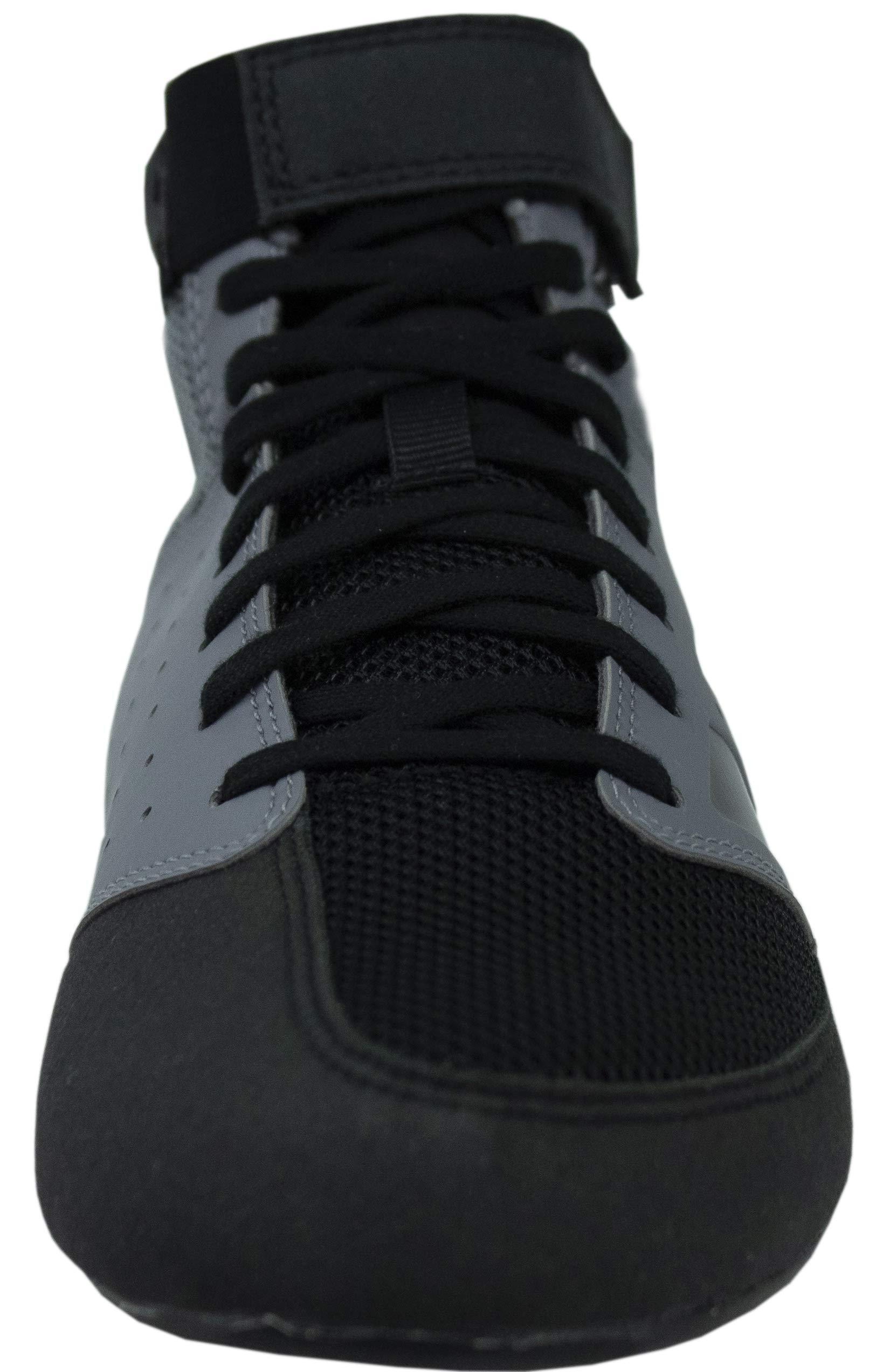 adidas Men's Mat Hog 2.0 Wrestling Shoes (15, Grey/Black) by adidas