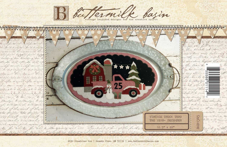 Mini Vintage Truck Thru The Year December