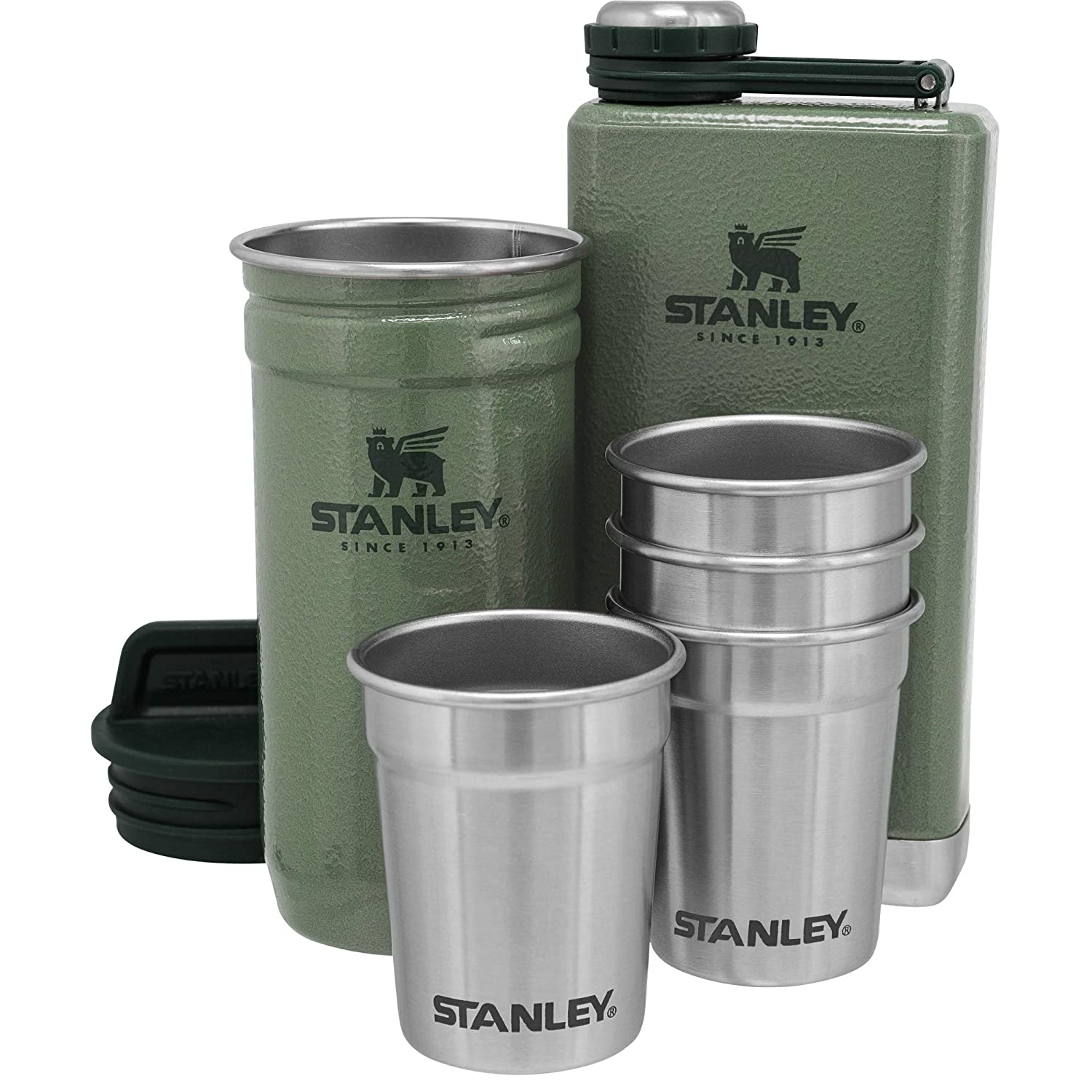 Stanley Unisex Green Adventure Shot Glass And Flask Set 10-01883-031