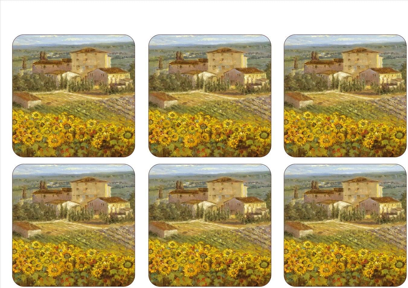 Pimpernel Tuscany Collection Coasters - Set of 6
