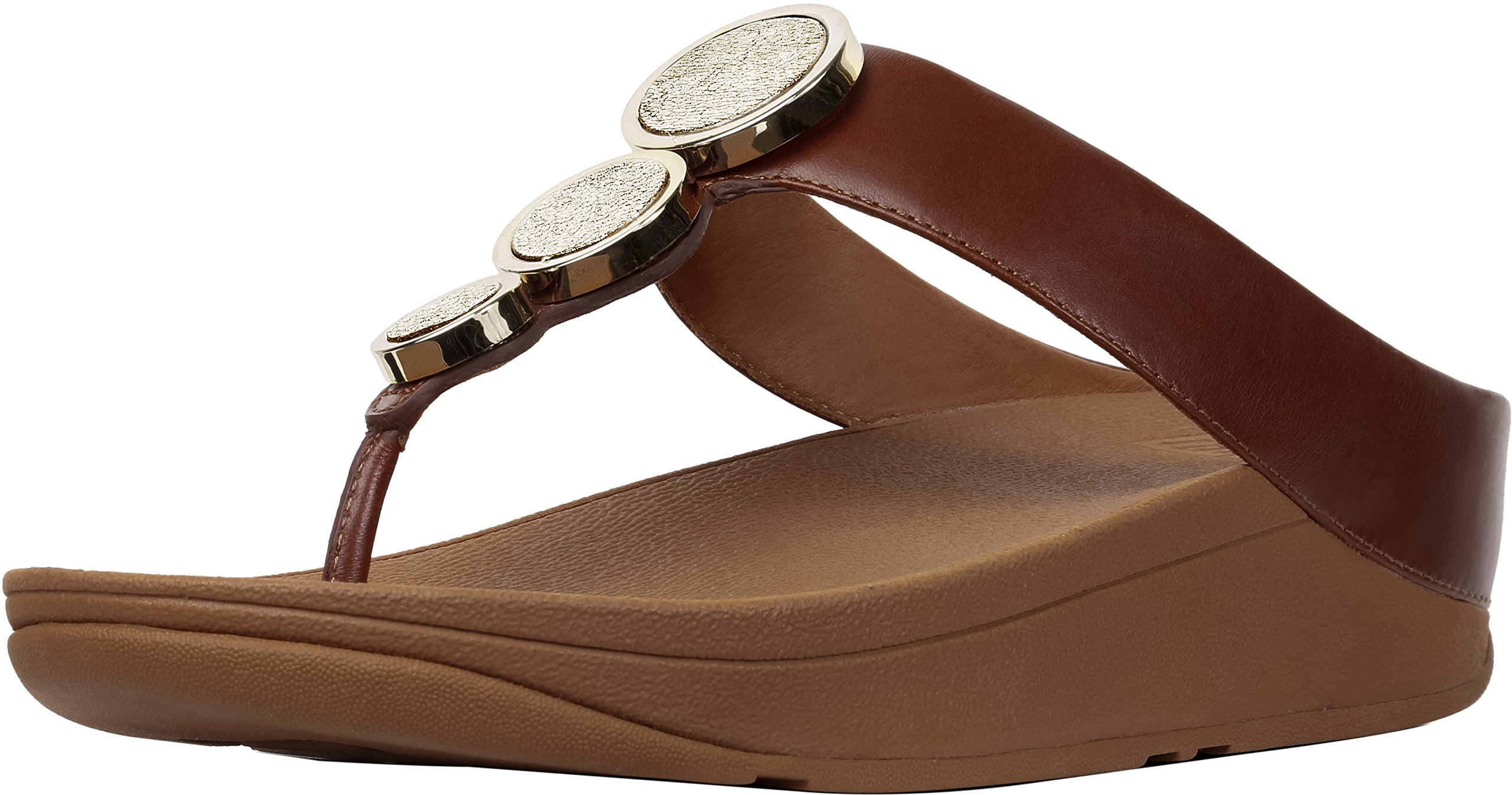 FitFlop New Women's Halo Thong Sandal Cognac 8