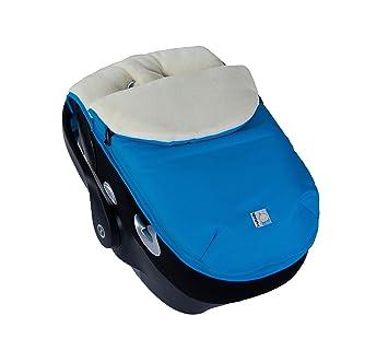Kutnik UNIVERSAL CAR SEAT FOOTMUFF SLEEPING BAG With Polar Fleece DARK TURQUOISE CREAM