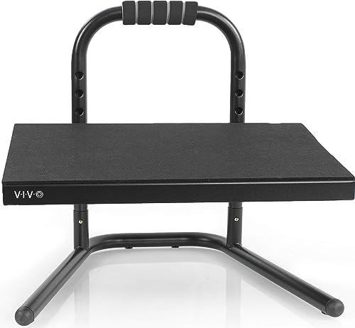 VIVO Black Ergonomic Height Adjustable Standing Footrest