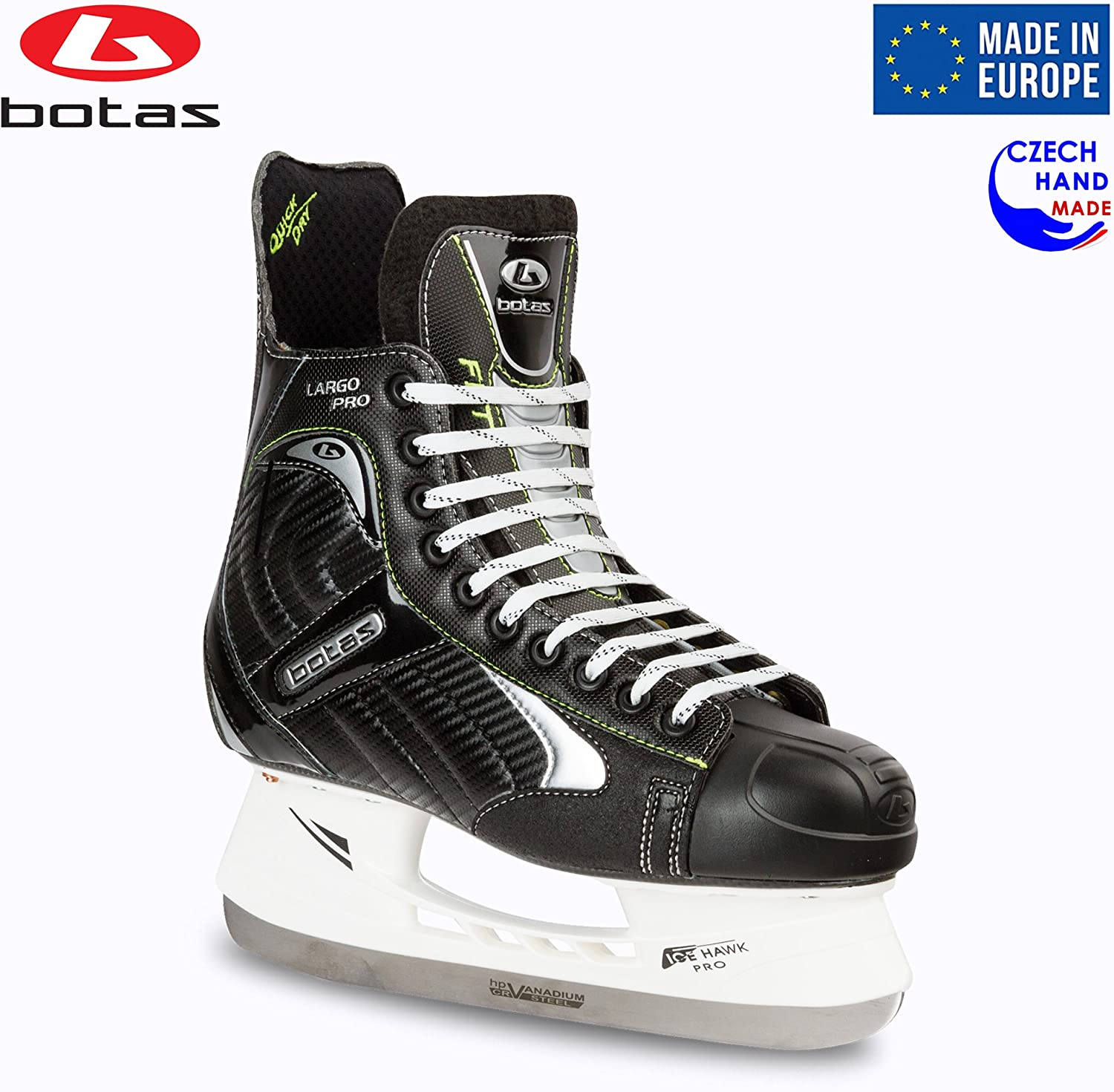 Botas – Largo 571 PRO – Men s Ice Hockey Skates Made in Europe Czech Republic Color Black