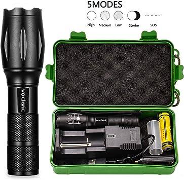 3000 Lm Zoomable DEL rechargeable lampe de poche torche lampe w AC//chargeur voiture