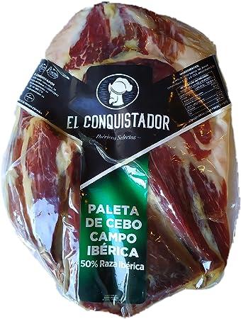 2,2 Kg Paleta Iberica de Cebo de Campo Deshuesada con 18-24 meses de curacion - Jamon Iberico Deshuesado Etiqueta Verde - Pata Negra Sin Hueso