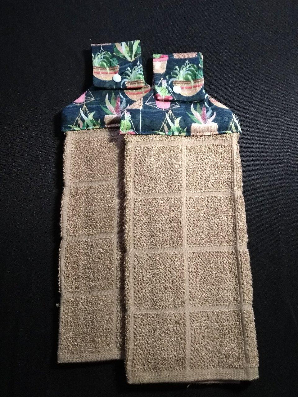 Amazon com: Southwest Succulents Hanging Dish Towels (Set of
