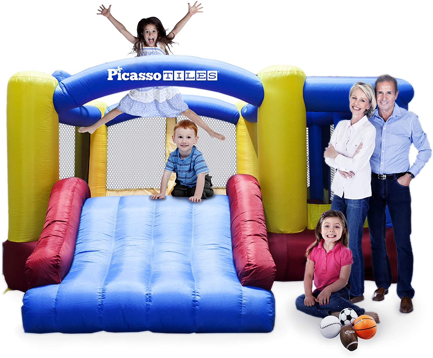 Picasso Tiles Foot Inflatable Slide Bouncer