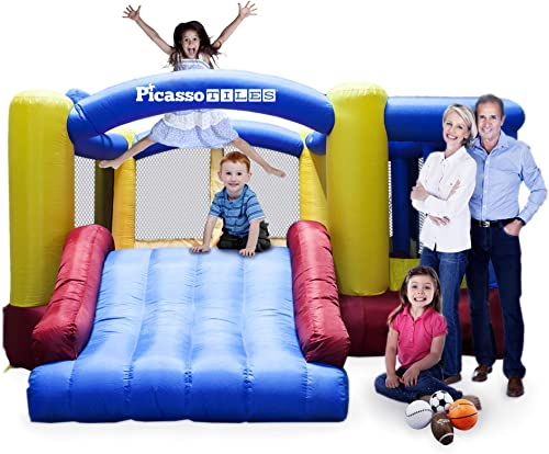 PicassoTiles-[Upgrade-Version]-KC102-12x10-Foot-Inflatable-Bouncer-Jumping-Bouncing-House