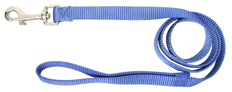 Hamilton 3 4-Inch Single Thick Nylon Lead with Swivel Snap, 4-Feet Long, Berry bluee