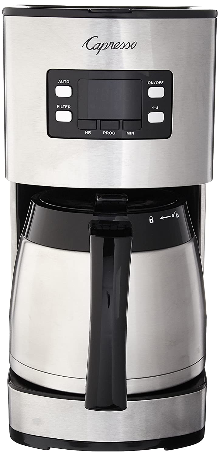 Capresso 435.05 10 Cup Thermal Coffee Maker ST300, Stainless Steel