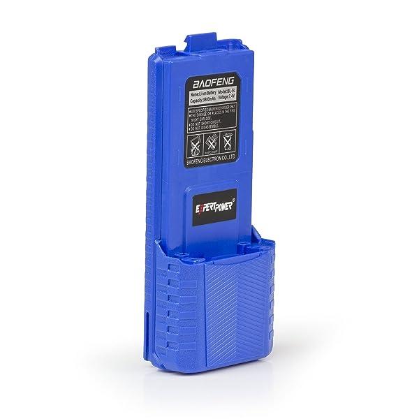 ExpertPower Baofeng Extended True Capacity Battery (Model: BL-5L, 3800 mAh, Blue) (Color: Blue, Tamaño: UV-5R High Capacity (3,800 mAh))