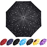 YumSur Paraguas Plegables Automático Antiviento, Paragua de Bolsillo compacta y Ligera, Paraguas automático de Viaje…