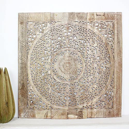 Haussmann Teak Lotus Panel Inlay 36