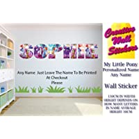 My Little Pony wall art sticker YOUR NAME wall sticker Childrens Bedroom