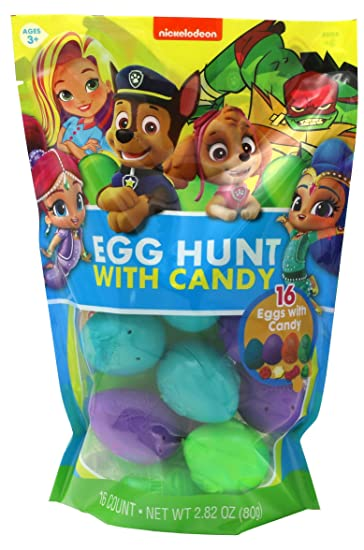 Nickelodeon Paw Patrol, Shimmer and Shine, and TMNT Assorted Candy Filled Eggs, 16 Count