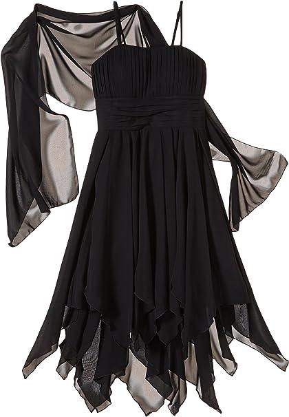 G O L Madchen Bekleidungsset Vokuhila Chiffon Kleid Mit Stola Amazon De Bekleidung