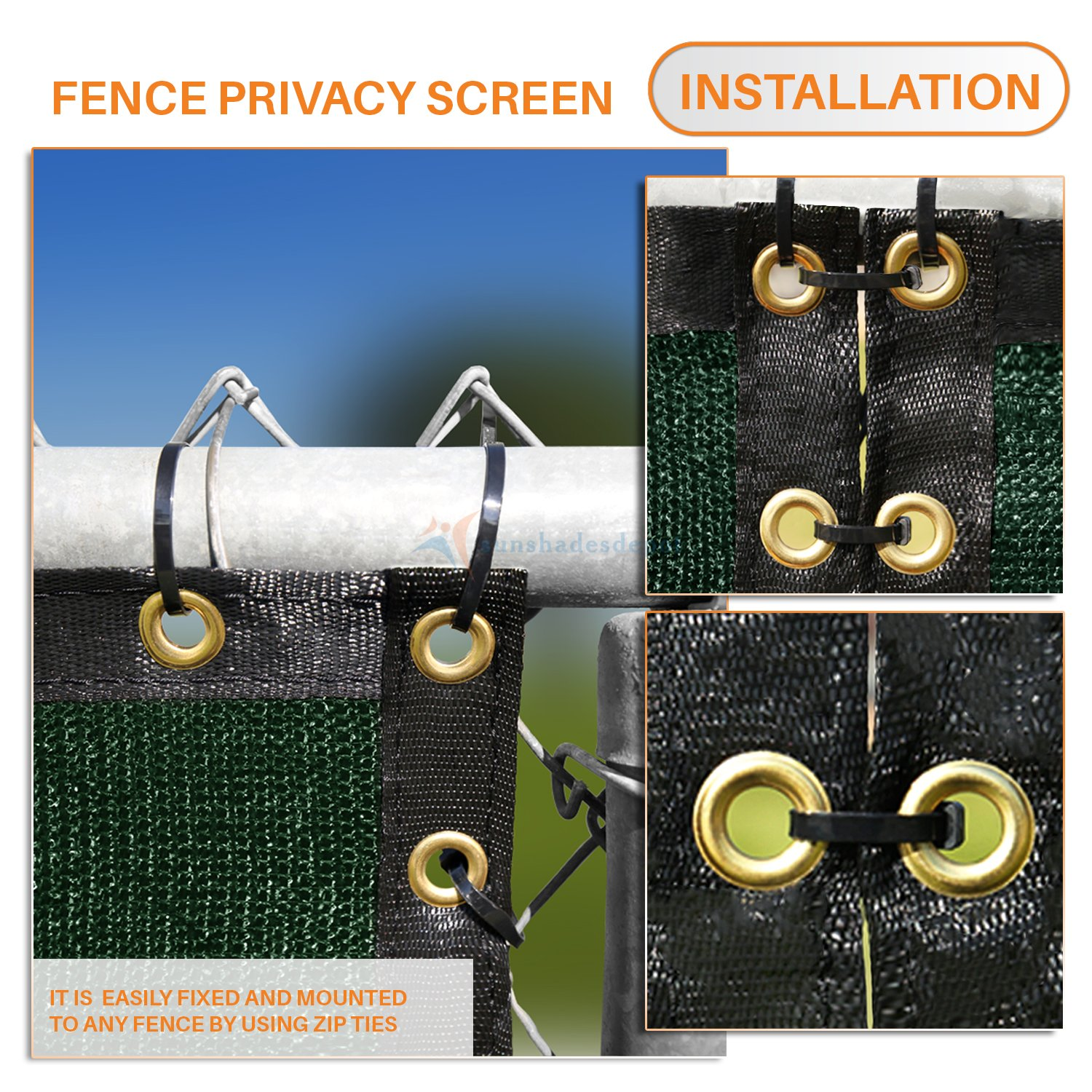 Amazon 50 x6 Solid Dark Green mercial Privacy Fence Screen