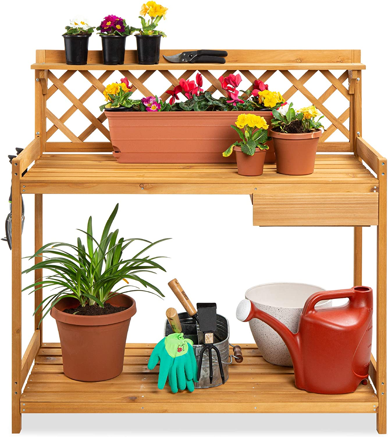 Best Choice Products Outdoor Garden Potting Bench