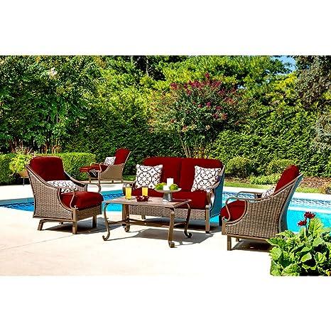 Image Unavailable - Amazon.com: Hanover VENTURA4PC-RED Ventura 4-Piece Patio Set