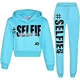 Kids Girls Tracksuit Designer #Selfie Hooded...