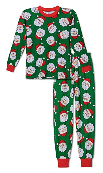 Amazon.com  Sara s Print Boys Christmas Santa Claus Pajama 27e596bb5