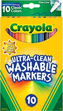 Crayola Ultra-Clean Washable Markers, Fine Line