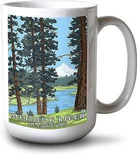 product image for Metolius River Headwaters, Oregon (15oz White Ceramic Mug)