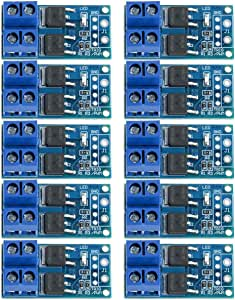10PCS DC 5V-36V 15A(Max 30A) 400W Dual High-Power MOS Transistor Driving Controller Module FET Trigger Switch Drive Board 0-20KHz PWM Electronic Switch Control Board DC Motor Speed Controller