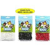 Perler Beads Bead Bag, White (White-Black-Red)