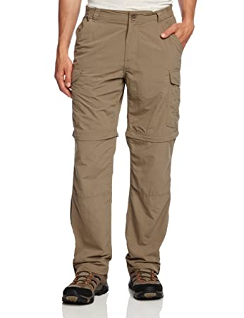 Craghoppers Men's NosiLife Convertible Regular Length Trousers - Pebble, ...