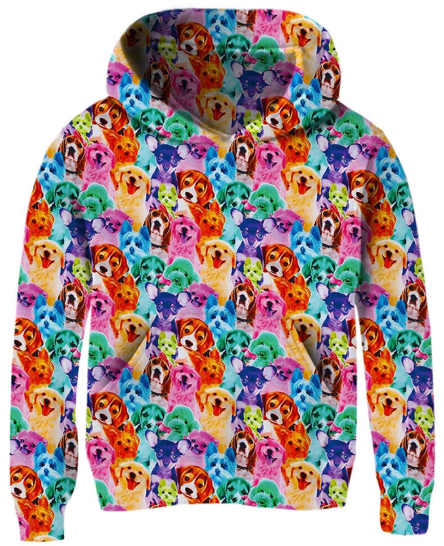 Big Girls Pug Sweatshirts Size 9,12T Lovely Blue Yellow Red