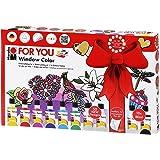 """MARABU Window Color """"fun & fancy"""" FOR YOU 50 modèles/ 2 films A3 et 10 x 80ml"""