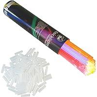 Rhino Glow; Glow Sticks , Lot de 100 pieces Glowsticks bâtons lumineux bâton lumineux 5 couleurs Set + connecteur