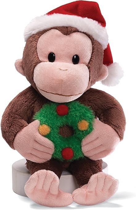 Amazon Com Gund Curious George Christmas 12 Plush Toys Games