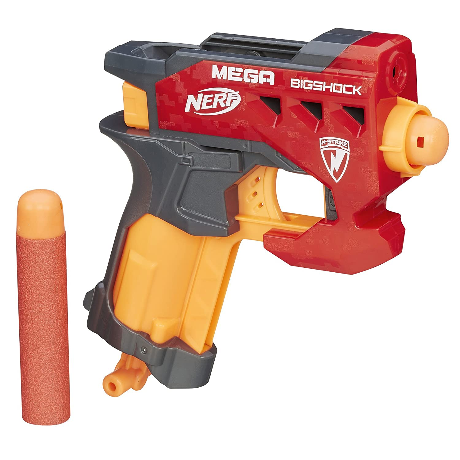 Nerf N-Strike Mega blasters feature bigger darts engineered to fire farther  than ever. Stretch the limits of blaster performance in the biggest Nerf  battle ...
