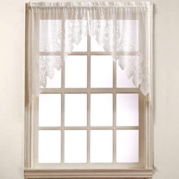 No. 918 Joy Classic Lace Kitchen Curtain Swag Pair, 60\