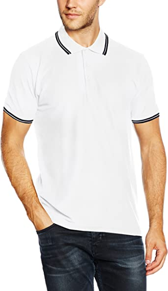 Fruit of the Loom Premium Tipped - Polo para hombres, Blanco ...