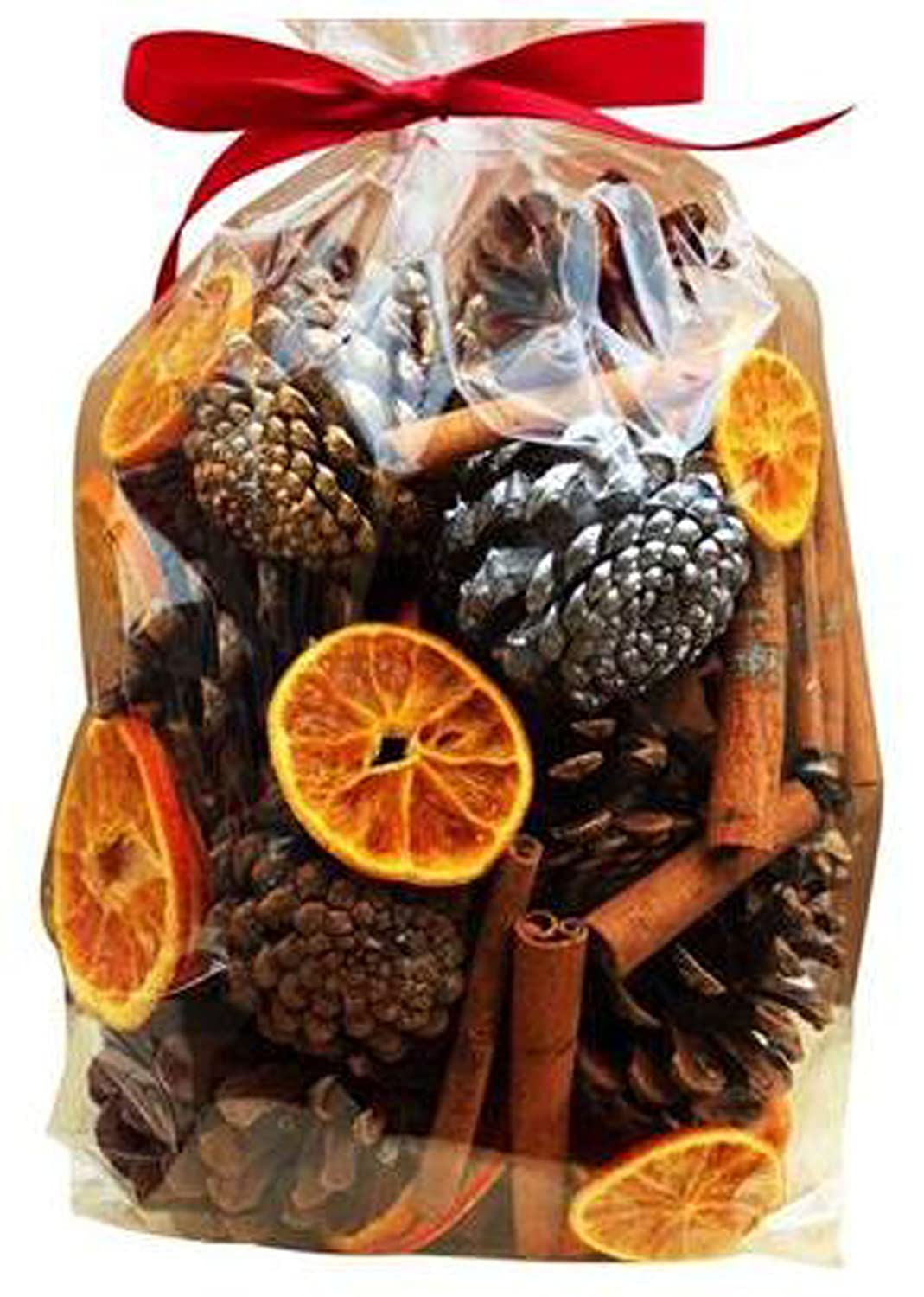 Christmas Decorations Pot Pourri Gift Bag (500g): Pinecone, dried fruits, oranges and leaves, pine cones and cinnamon sticks Avena Christmas