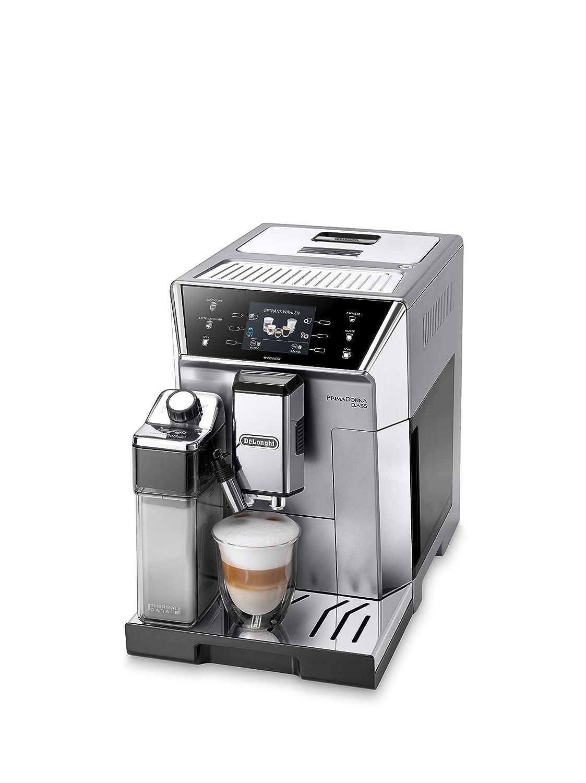 DeLonghi ECAM 556.75.MS Independiente, Cafetera combinada, 2 L, Molinillo integrado, 1450 W, Cromo, Plata Cafetera