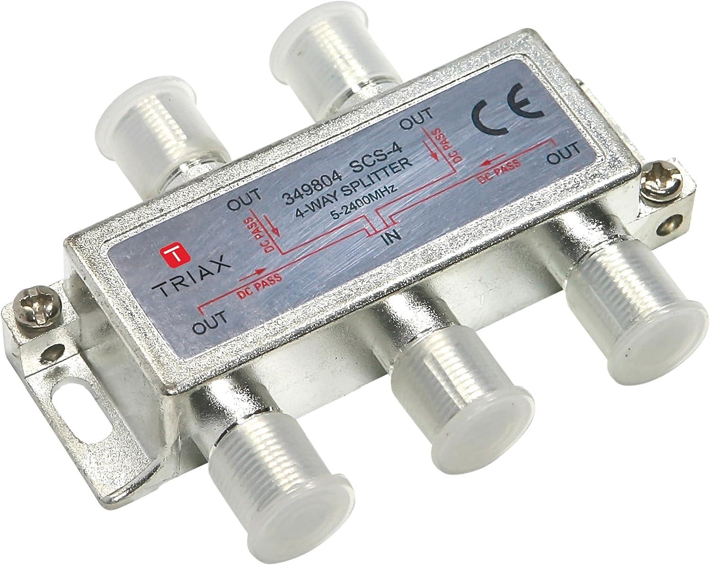 Triax actif/ /12dB /Distributeur 6/sorties SCS 6/att/énuation 10/