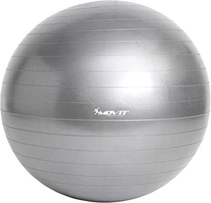 Movit Pelota de Ejercicios Suiza »Dynamic Ball« Incluye Bomba de ...