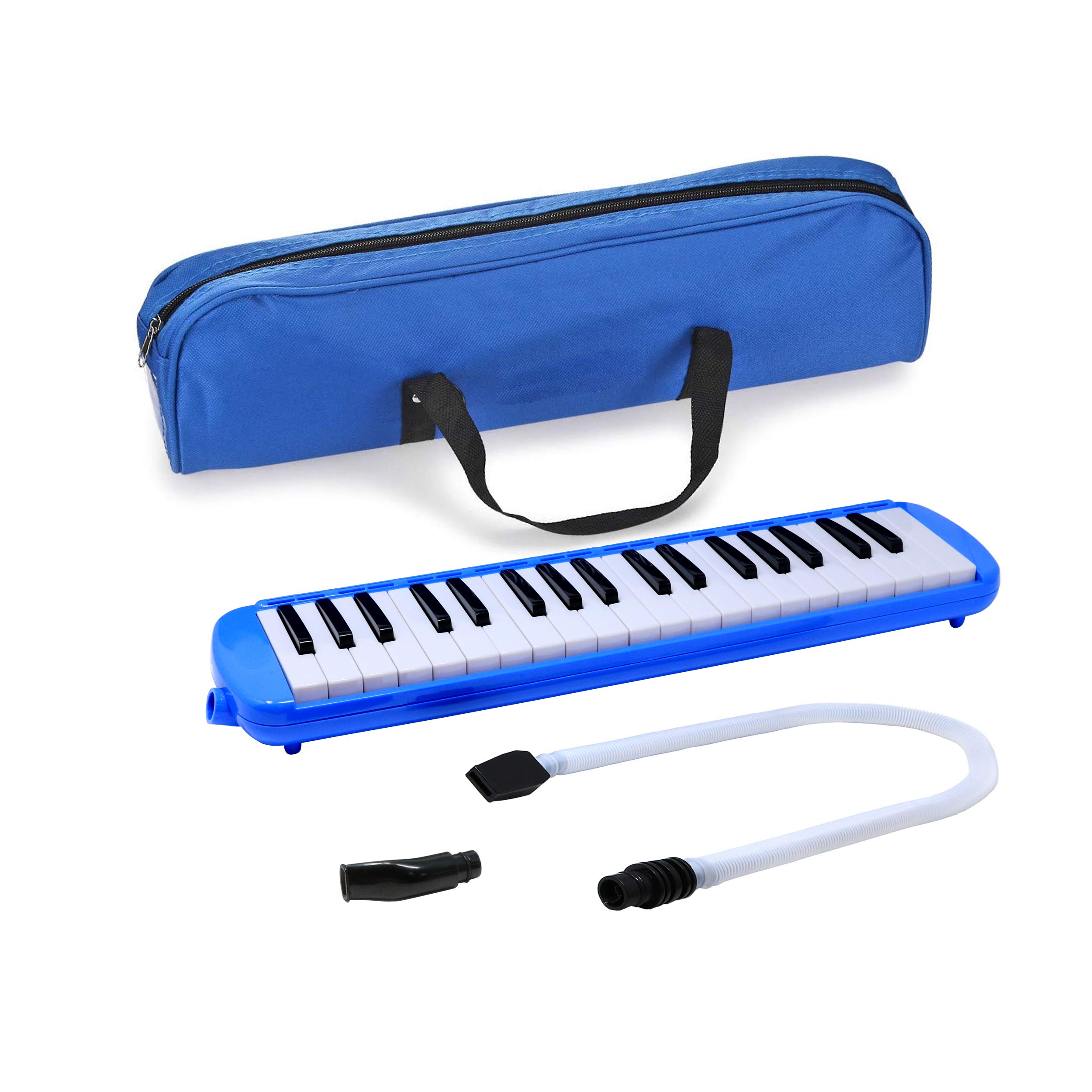 Fever Blue 37 Key Melodica with Protective Bag by D'Luca
